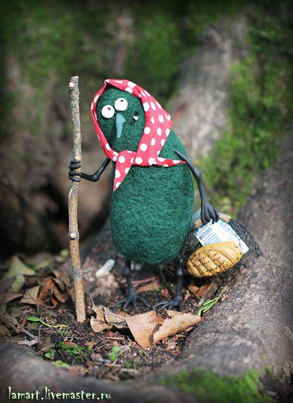 Купить Карга - тёмно-зелёный, сказочный лес, сказочный персонаж, существо, молоко, хлеб, дерево