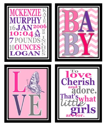 The Willis Family: Baby girl room printables