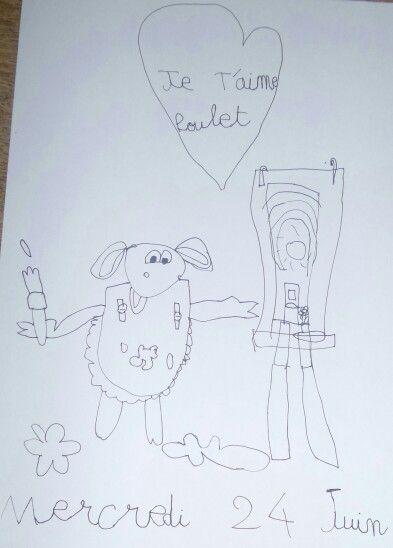 Un joli dessin de Tiphaine pour son petit frère. - Juin 2015