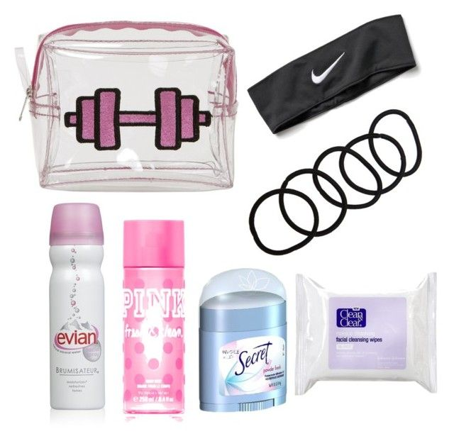 """School gym locker essentials"" by alhysonayala on Polyvore featuring beauty, NIKE, Wet Seal, Emma Lomax and Clean & Clear"
