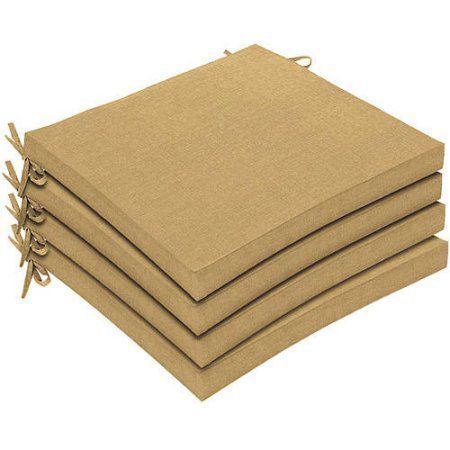 Delahey Solid Sesame Seat Pad 4-pack, Beige
