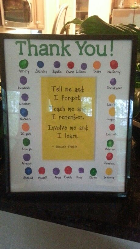 Farewell gift for Kindergarten Student Teacher | Gift Ideas ...
