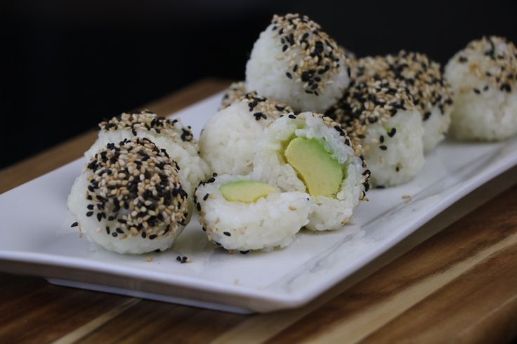 Sushi balls - Vegan avocado rice balls. Simple easy to make - with how to video