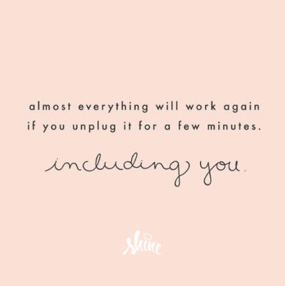 Happy hump day. Information overload can leave us feeling anxious (uncertainty   powerlessness = anxiety). Today, create 'personal buffers'  to find calm.
