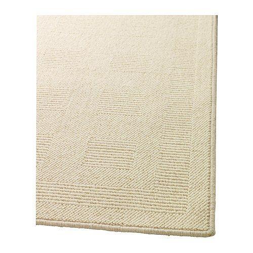 Ikea Rug Cream: HAVBRO Rug, Low Pile IKEA Long-fiber Wool Gives The Rug A