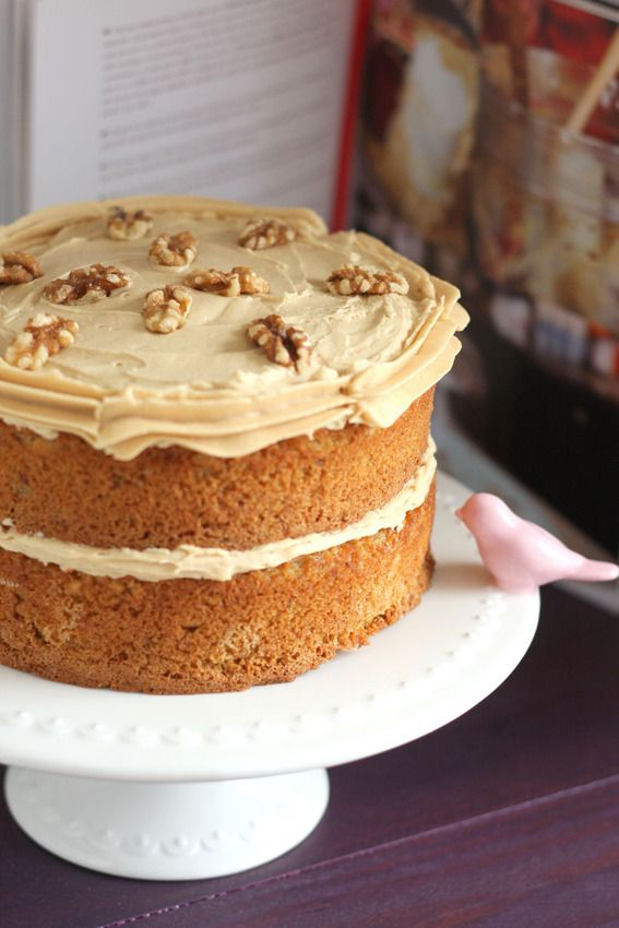 Coffee walnut layer cake | Food and Drink | Pinterest
