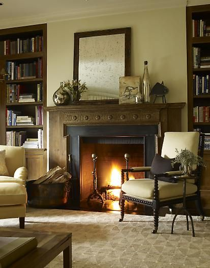 Classic, beautiful fireplace. Don't have to overwhelm to look great.