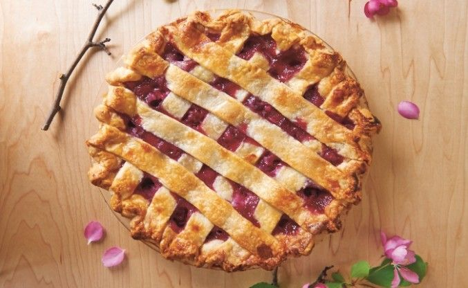 Recipe for Sour Cream Cherry Pie with Homemade Pie Shell by Taste Canada finalist Duchess Bake Shop for Gusto TV.