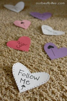Valentine Breakfast Surprise ... follow the hearts....