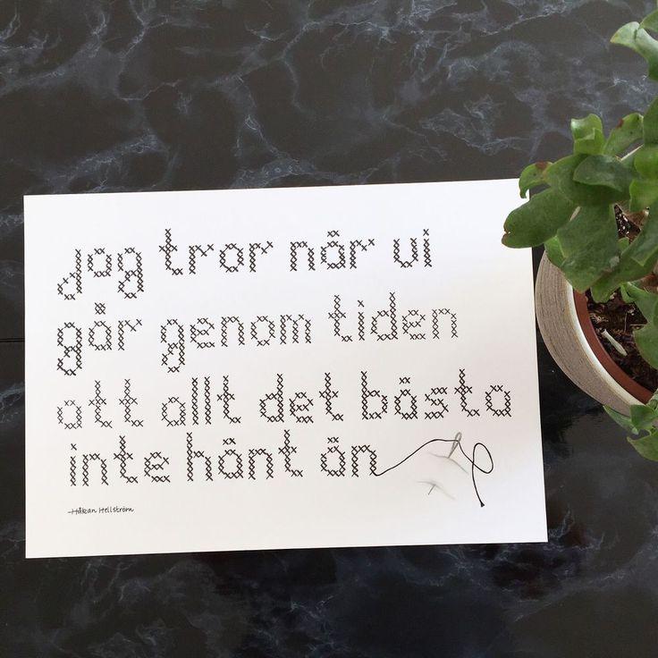 Håkan Hellström-citat (A3 liggande)