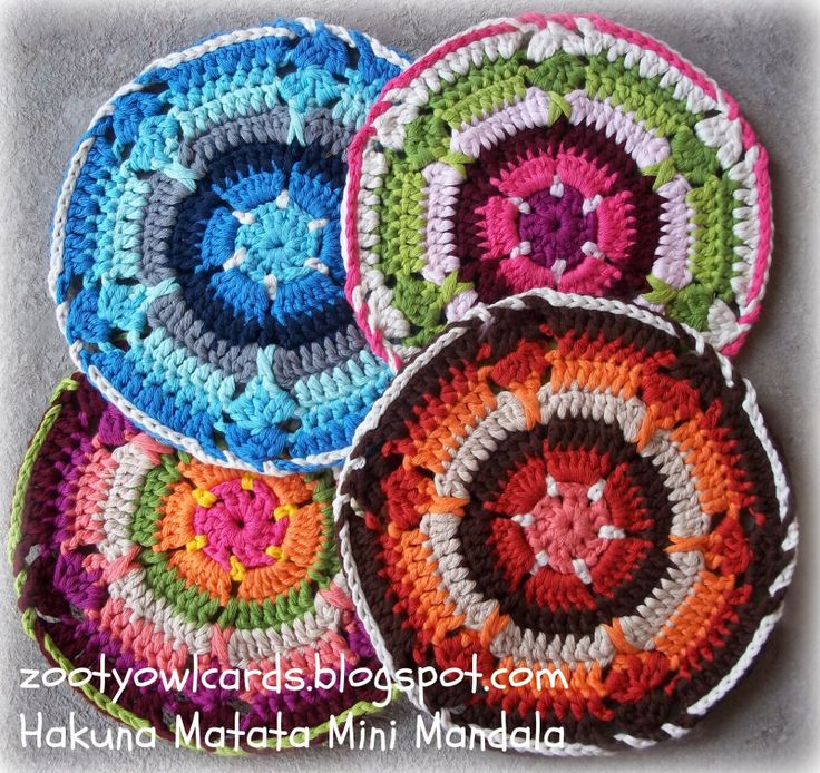 Hakuna Matata Mini Mandala Pinners and bloggers!  You do not need an apostrophe in mandalas when talking about more than one!