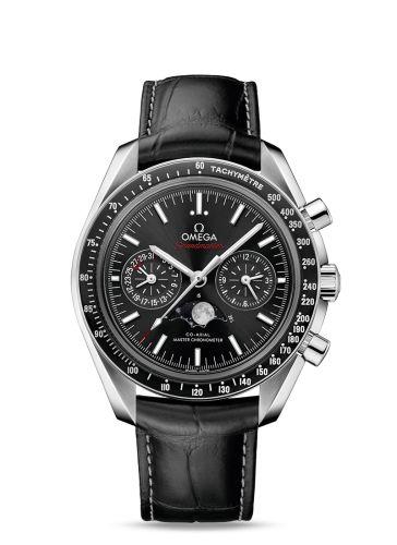 304.33.44.52.01.001 : Omega Speedmaster Moonphase Chronograph Master Chronometer Stainless Steel / Black