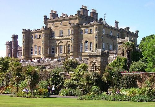 Culzean Castle (pronounced cull-ANE: see yogh) is a castle near Maybole, Carrick, on the Ayrshire coast of Scotland. It is the former home of the Marquess of Ailsa but is now owned by the National Trust for Scotland. The clifftop castle lies within the Culzean Castle Country Park and is opened to the public.