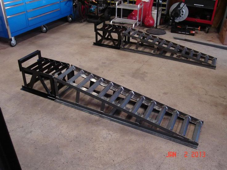 Diy car service ramps 10