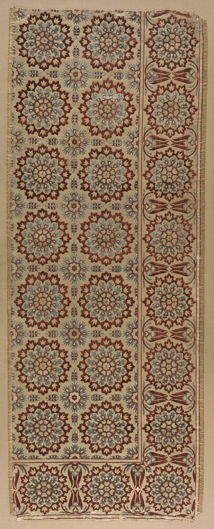 Section of a Velvet Floor Covering (çatma Nihale) Turkey, Bursa or Istanbul, Ottoman period, circa 1650 Textiles; carpets