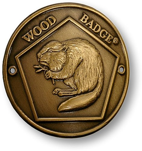 Awards & Gifts :: Wood Badge :: Beaver Patch :: Beaver Wood Badge Hiking Stick Medallion