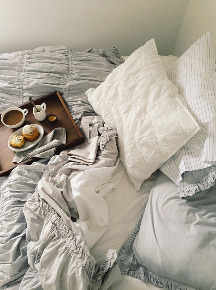 Nothing is better than enjoying some breakfast in bed.