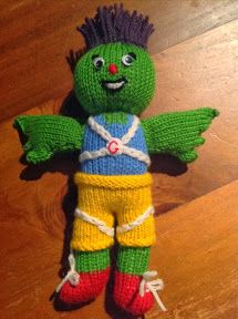 Clyde (Glasgow Commonwealth Games Mascot) - Free Knitting Pattern