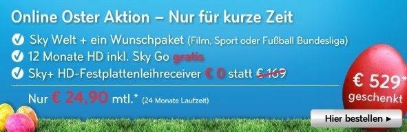 Sky Angebot _ Fußball Bundesliga live und Filme in HD