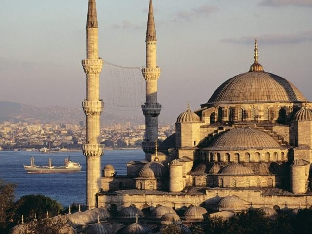 Blue Mosque and the Bosphorus Istanbul, Turkey