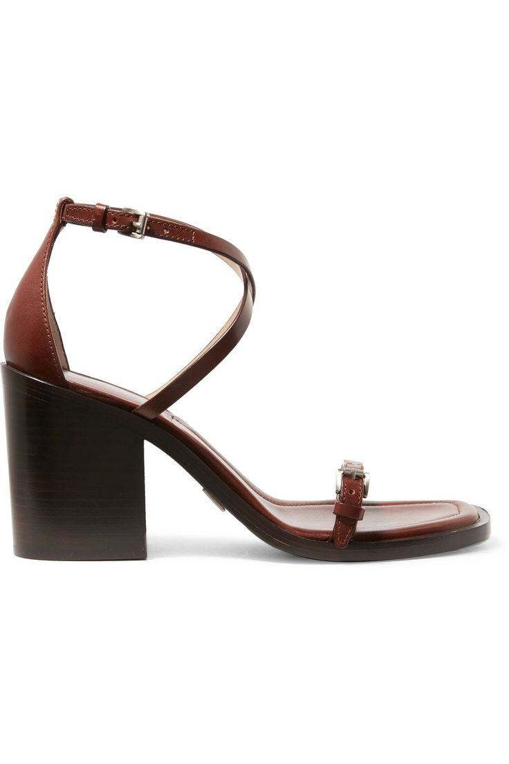 MICHAEL KORS COLLECTION MADIE LEATHER SANDALS GBP238.33 http://www.theoutnet.com/product/929622