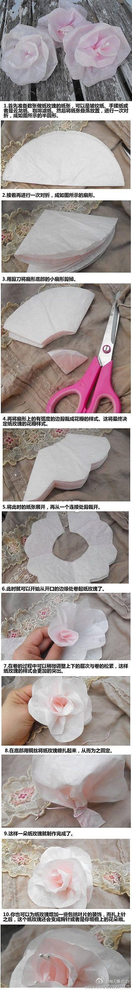 Flor de papel vegetal