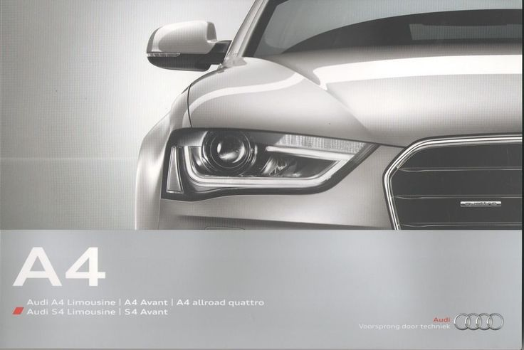 MRPL-61 - AUDI - A4 & S4 full brochure/folder Dutch 2013