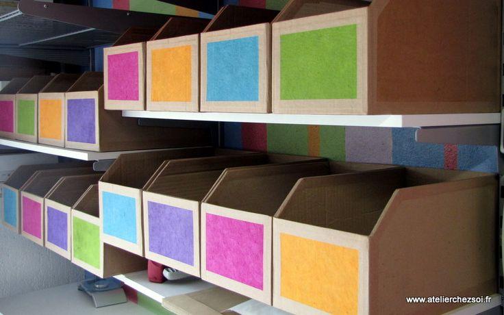 Tutoriel Des casiers de rangement en carton recyclé (Créations en carton - cartonnage) - Femme2decoTV