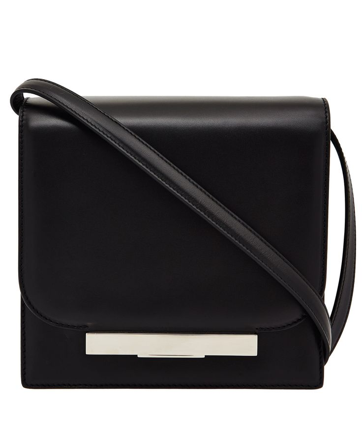 The Row Black leather shoulder bag from The Row
