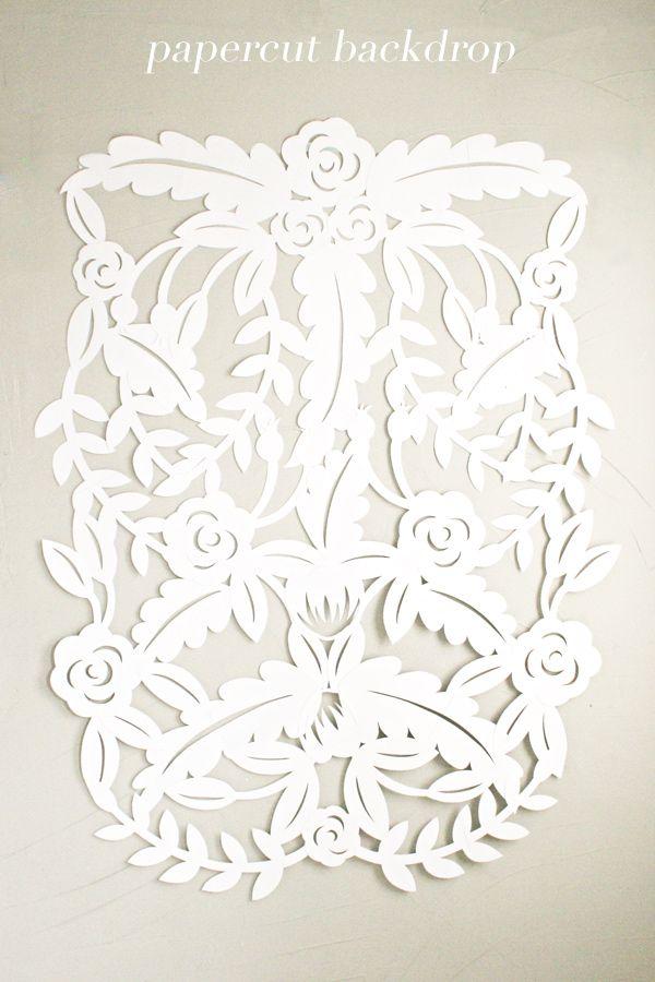 DIY Papercut Leaves Backdrop