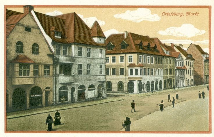 Ortelsburg, am Markt...... Heute eine Stadt im Süden der polnischen Wojewodschaft Ermland-Masuren. Karte von 1920, Samml. Hameister https://www.facebook.com/231510676882650/photos/a.236820109685040.64897.231510676882650/1067238533309856/?type=1