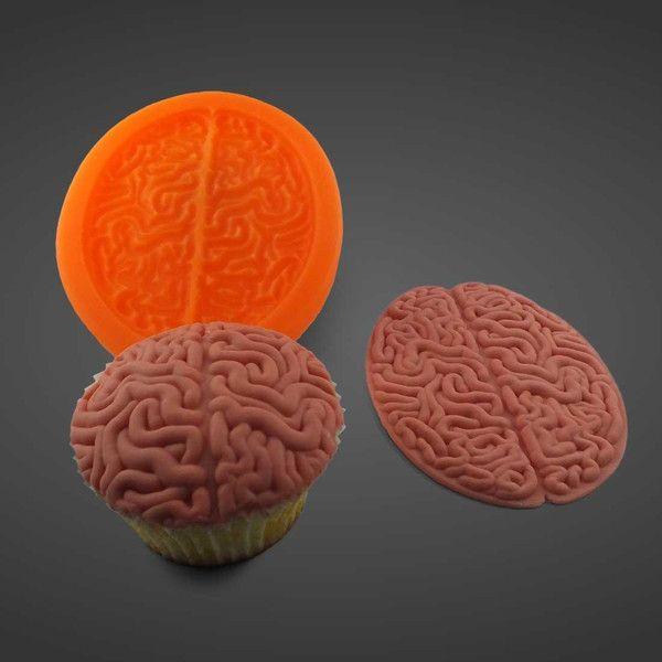Silikonform Halloween von Sillimolds: Gehirnmuffin auf DaWanda.com