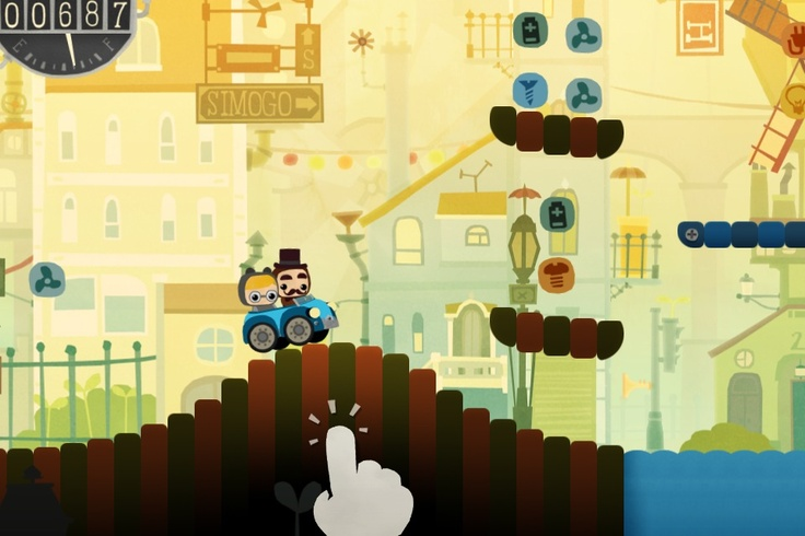 bumpy road game: Indie Games, Nice Interface, Roads Ios, Roads Games, Beautiful Games, Mobiles Games, Bumpi Roads, Games Design, Interface Graphics