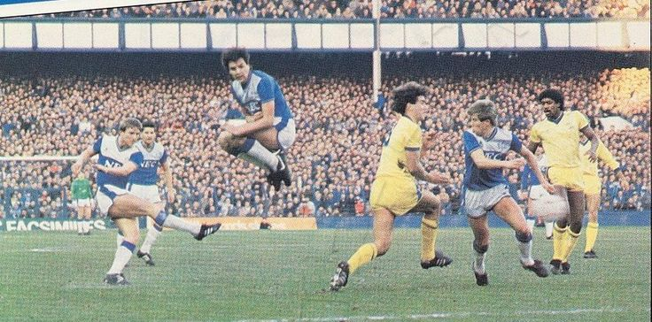 28 December 1985 Gary Stevens equalises for the Blues against Sheffield Wednesday in a game they went on to win 3-1