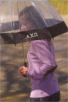 Zoubaby - Monogrammed Sorority Umbrellas- So Cute! #greekgifts #sorority #accessories