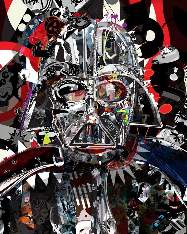 Vader by Tulio Fagim, via Behance #starwars #scifi