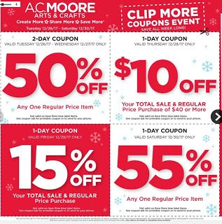 Go Couponing Now: AC Moore this Week