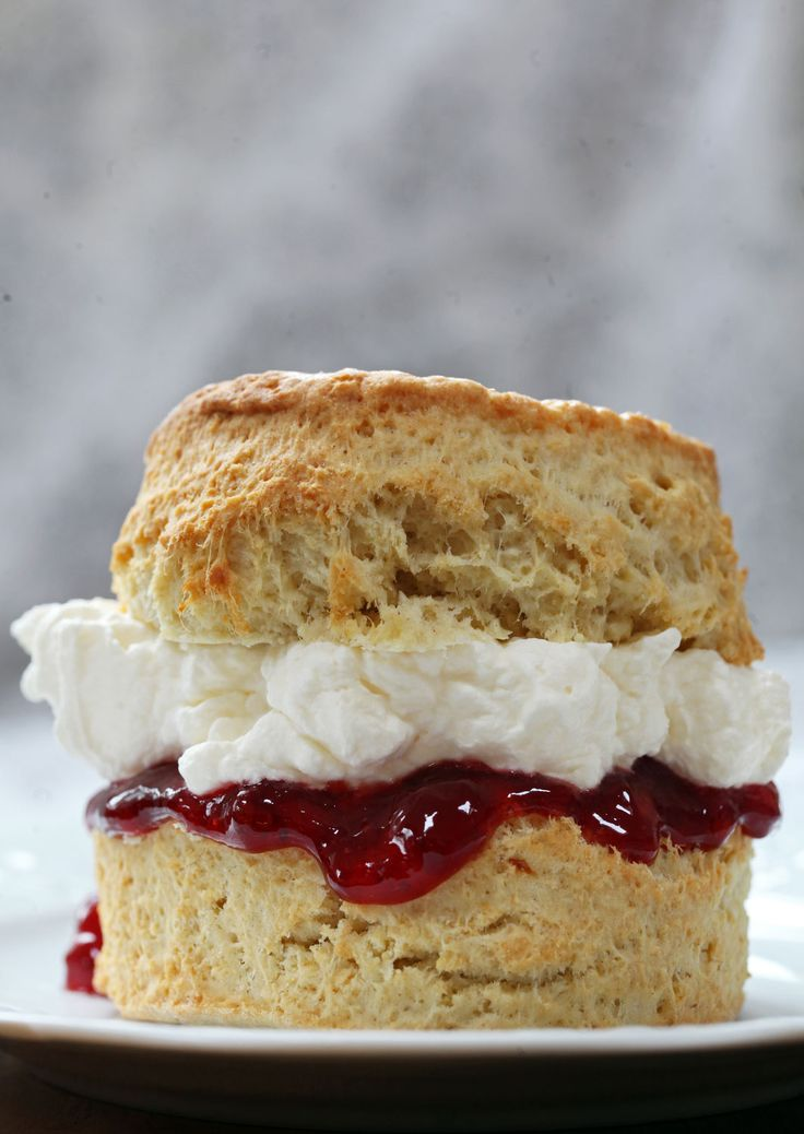 Traditional British scones slightly sweet and best served with jam and cream   drizzld.com