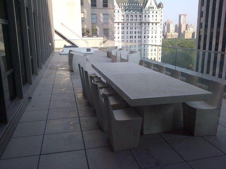 Lightweight Concrete Furniture   Slab Table Installation Pembrooke U0026 Ives  Manhattan.