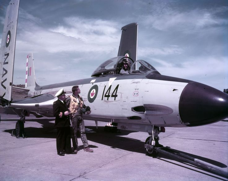 McDonnell F2H-3 Banshee, Shearwater, ca 1957.