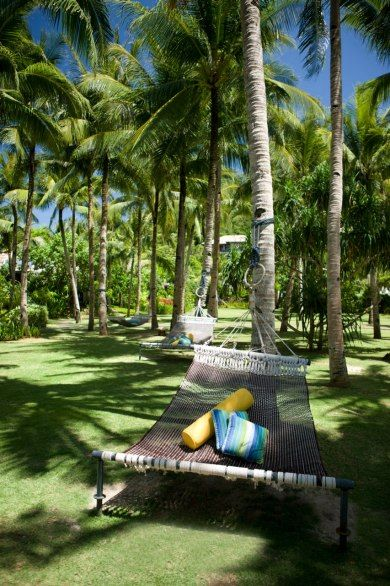 Shangri-La Boracay Resort and Spa Boracay Island, Philippines This resort made our Gold List of the world's best hotels this year, and it's easy to see why, with amenities like these palm-tree-shaded woven hammocks. Life is a Hammock