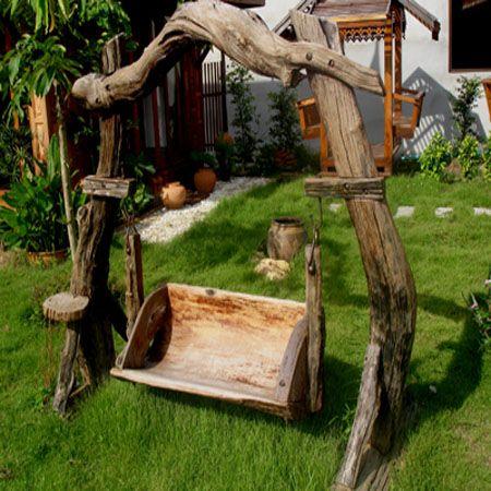 садовая мебель из дерева - качели