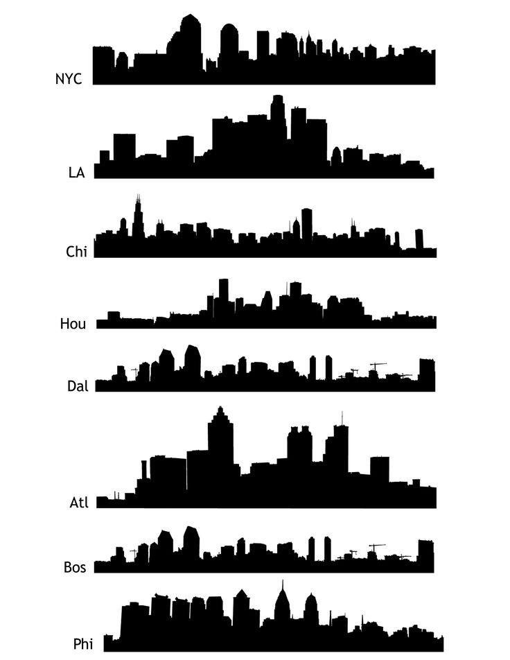 skylines (visual for students) | art technique | Pinterest ...