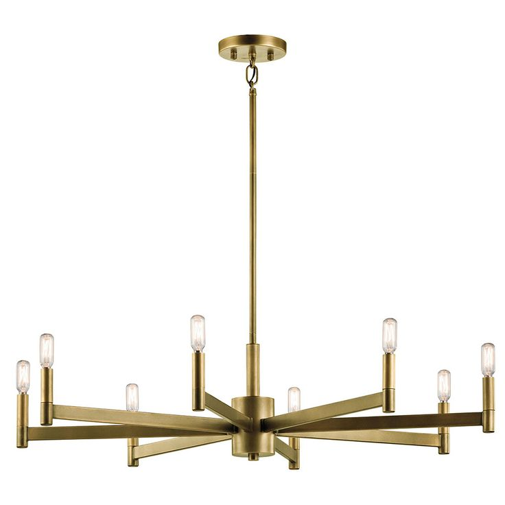 Kichler 43857nbr Erzo Modern Natural Brass Lighting Chandelier Kic