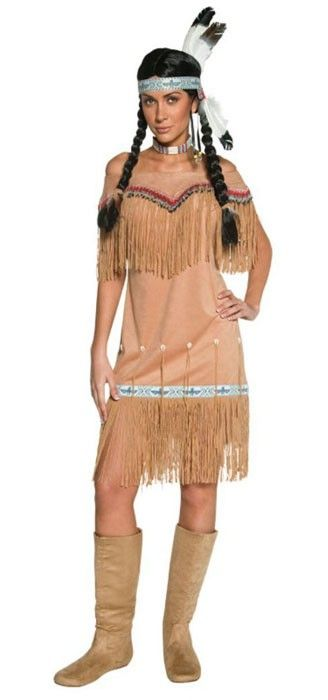 """<p>Dress up in this classic women's Native American <a title=""""Shop American Indian Costumes Online"""" href=""""http://www.heavencostumes.com.au/shop-by/character-themes/america-indian-costumes-and-accessories.html"""" target=""""_self"""">Indian costume</a> and have a Teepee party! Send smoke signals in this women's Indian fancy dress costume by Smiffys. Also a great Indian Pocahontas costume for adults. See below for full description and size details.</p>"""