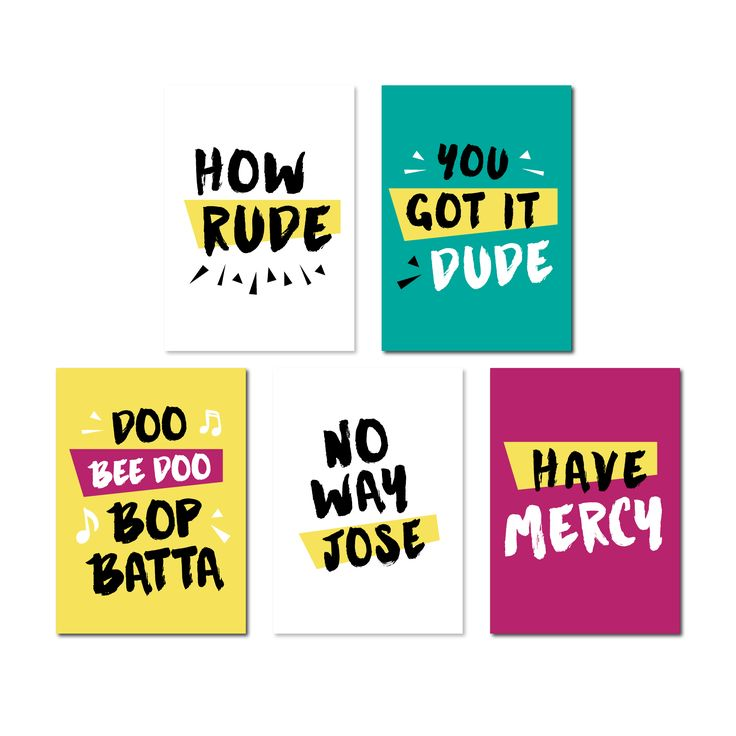 Set of 5 Full House Inspired Greeting Cards