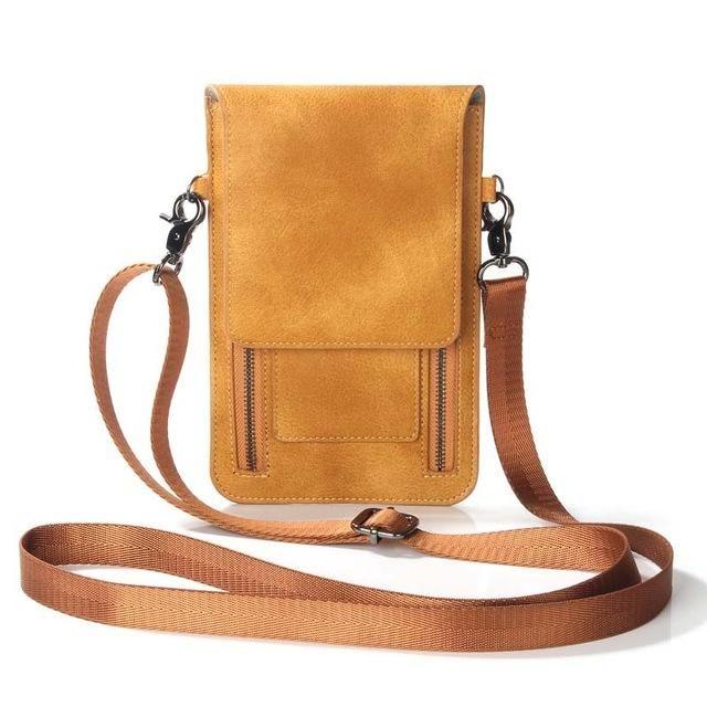 UK Women Leather Phone Bag Case Pouch Crossbody Shoulder Bag Purse Card Holder