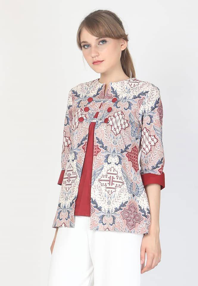 Model Baju Batik Wanita Yang Cocok Untuk Kerja Model Baju Wanita Desain Blus Wanita