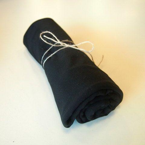 Musta trikoo, 180cm leveä