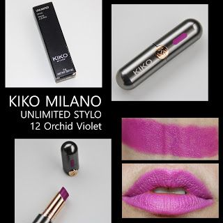 MichelaIsMyName: KIKO MILANO UNLIMITED STYLO 12 Orchid Violet REVIE...